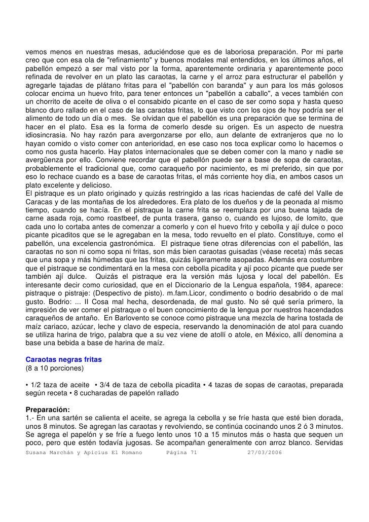 CARAOTAS NEGRITAS FRITAS Parte I /  armando-scannone-recopilacin-de-recetas-71-728.jpg (728×1030)