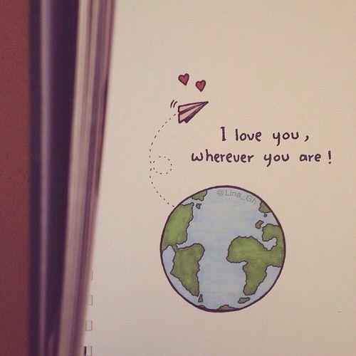 Ich liebe dich, wo immer du bist! – #Bist #dich #d…