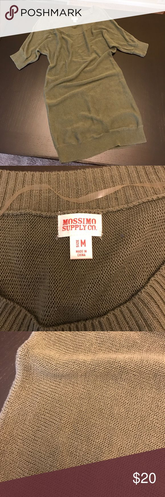 Dark Green Sweater Dress Knit sweater dress, light weight. Could be worn as a tunic with leggings or a dress with tights. Great condition. Mossimo Supply Co. Dresses