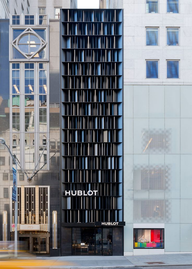Hublot Fifth Avenue in New York City, retail architecture and interiors by Peter Marino. Photograph by Adrian Wilson