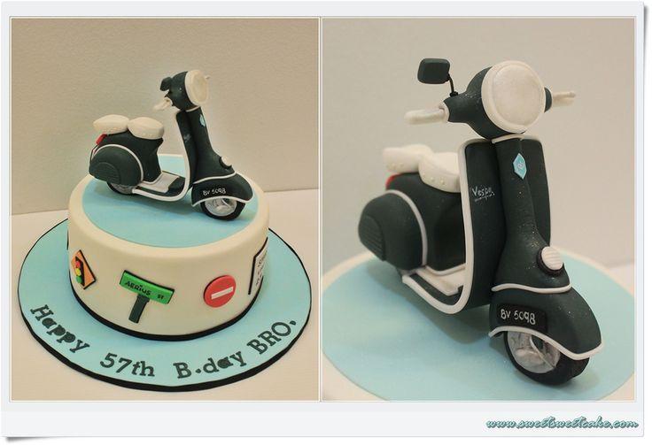 312 best images about cakes motos y bicicletas on for Vespa decoration