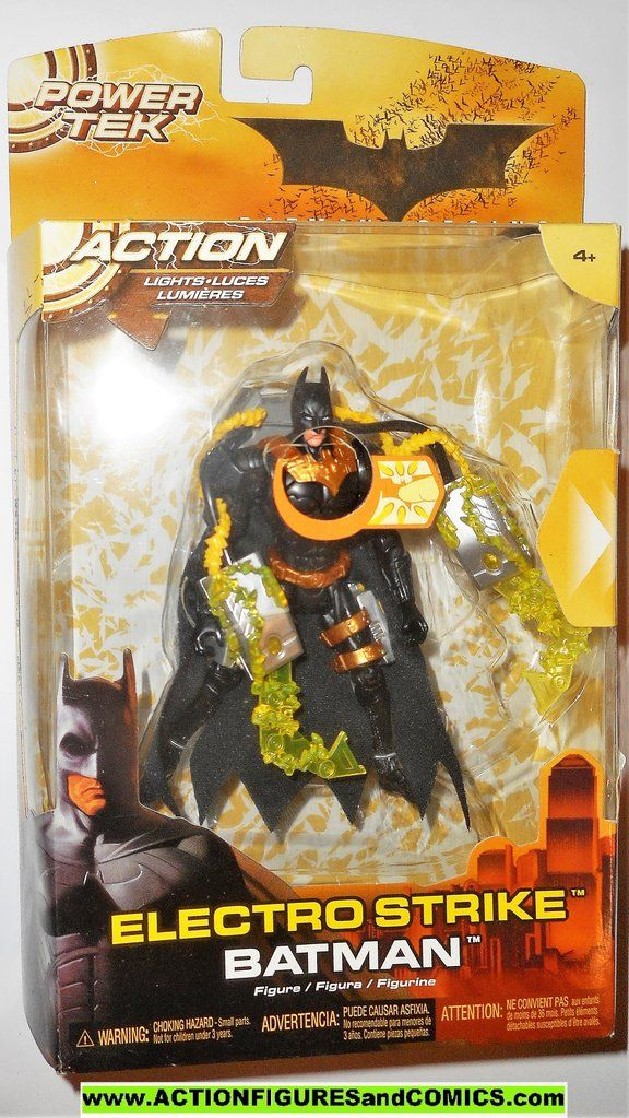 POWER TEK 2005 Batman Begins Electro Strike Batman Movie Action Figure
