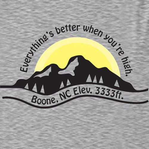 Boone, NC shirt designed by Glorydawndesigns