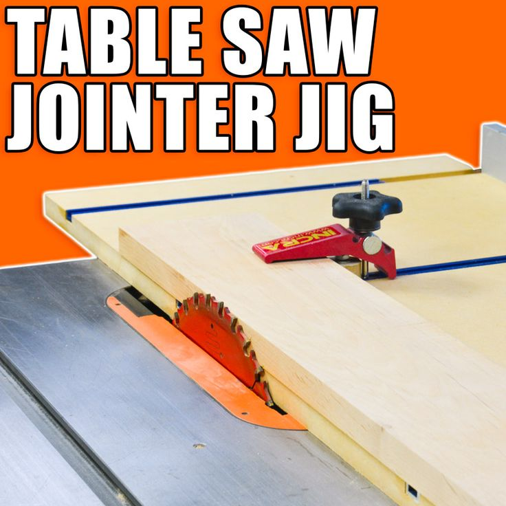 Table Saw Jointer Jig! #woodworking #woodworkingprojects