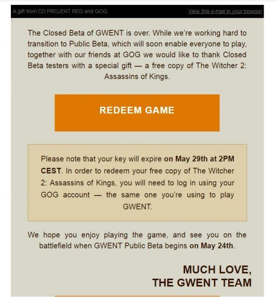 Gwent #The Witcher Card Game closed beta participants handed free copy of The Witcher 2 #VideoGames #closed #gwent #handed #participants