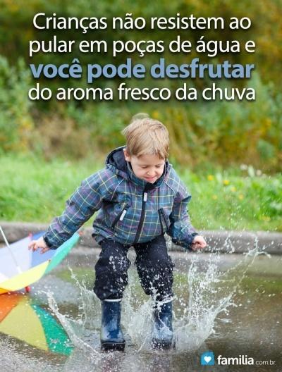 6 ideias de atividades para crianças em dias chuvosos.