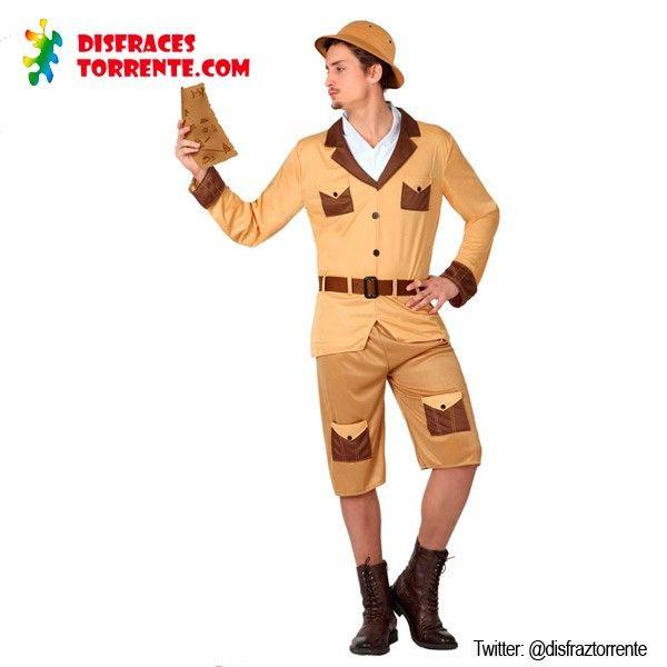 Disfraz Explorador chico Con este disfraz de explorador no habrá safari que se te resista ni fiera que no puedas domar. Elegante, aventurero...