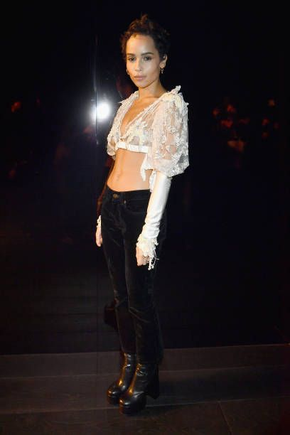 5d1b3acefcd Zoe Kravitz attends the Saint Laurent show as part of the Paris Fashion  Week Womenswear Fall Winter 2018 2019 on February 27 2018 in Paris France