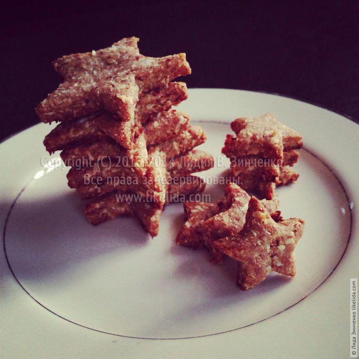 кокосовое печенье с финиками (без сахара, веганское)