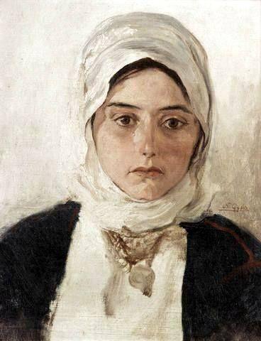 Νικόλαος Γύζης, πορτραίτο της κόρης του Πηνελόπης (γεν. 1879)