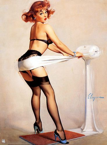 1950's Vintage PinUp Girl Poster 8 by VintagePosterShopUK on Etsy, £4.99