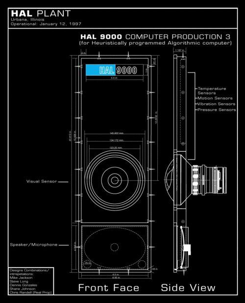 HAL 9000 Blueprints. 2001: A Space Odyssey (1968)