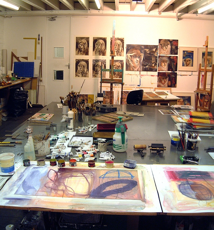 Phoebe Mills studio