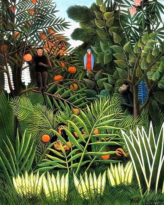 "Henri Rousseau ""Monkeys in the Jungle"", 1909 (France, Naive Art, 20th cent.)"