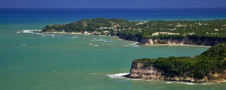 Vista aérea das principais Praias de Pipa