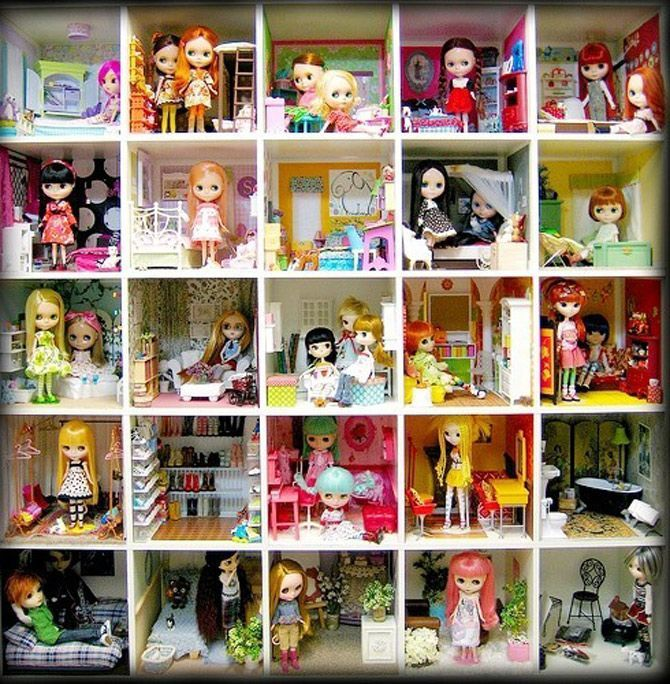 Blythe Dollhouse With IKEA Expedit Hack / DesignVille.cz