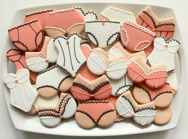 Lingerie Cookie Platter...♥ cute for bachelorette party or lingerie party ♥ http://www.sweetsugarbelle.com/  <<