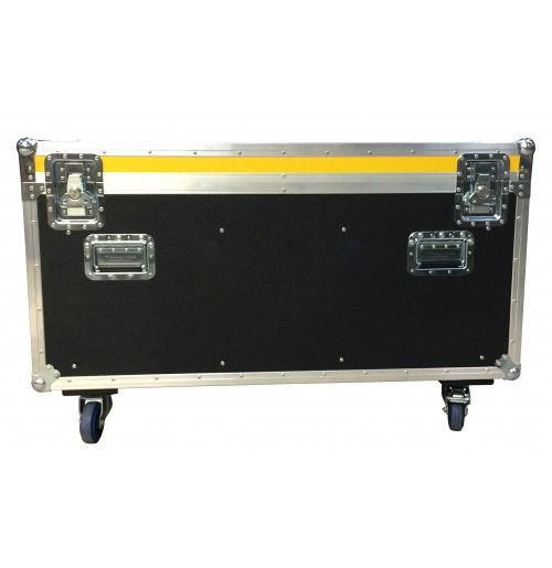 Grey Euro 4 foot Road Trunk with 8 handles, 2 dividers, 4 castors, 1 label dish and Stacking Cups Options from Best Flight Cases