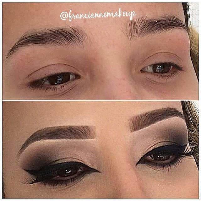 Instagram media franciannemakeup - Pra quem não sabe tb sou design de sobrancelhas e acho que uma maquiagem com uma sobrancelha bem feita faz toda a diferença !
