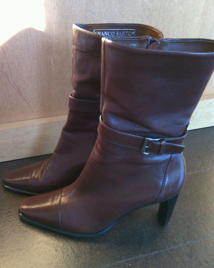 Franco Sarto Brazil Womens Soft Leather Boots Size 7M Brown European Fashion | eBay