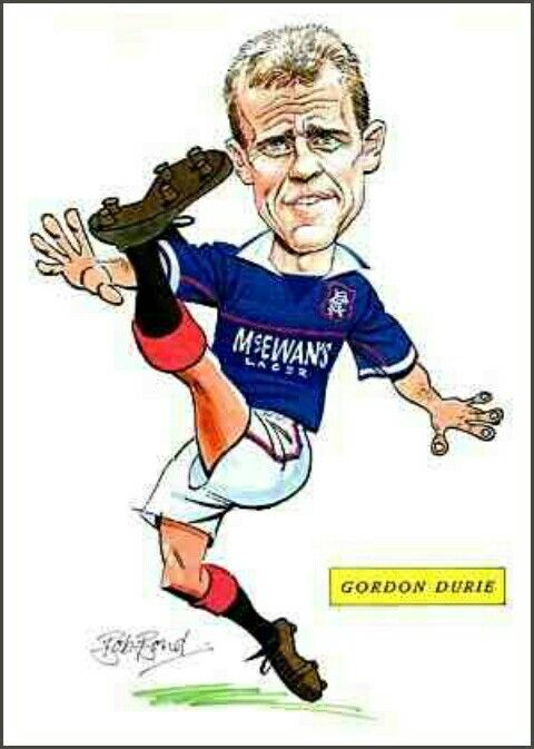 Gordon Durie of Rangers in cartoon mode.