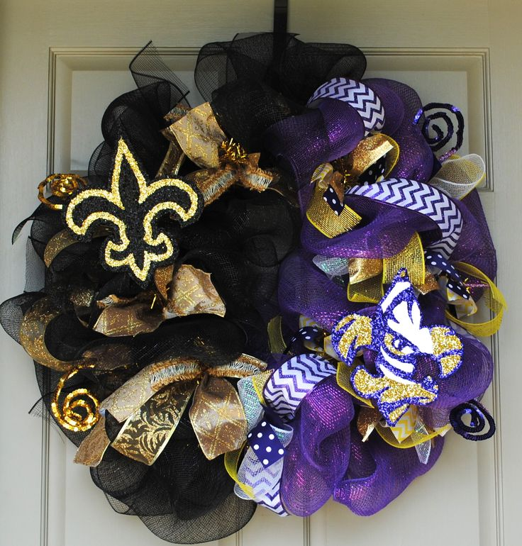 LSU Saints Wreath by Gaudy Girl Designs