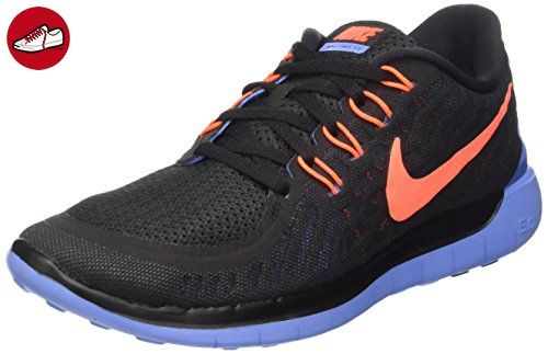 Nike Damen Free 5.0 Laufschuhe, Mehrfabig (Schwarz/Kreideblau/Hyper-Orange 008), 38.5 EU - Nike schuhe (*Partner-Link)