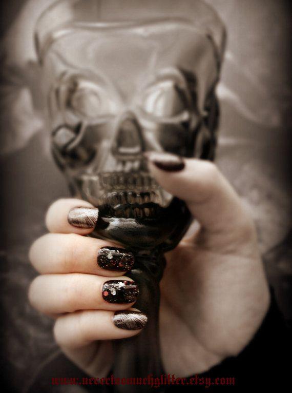 Gothic Nail Art- Corvid-Press On Nails