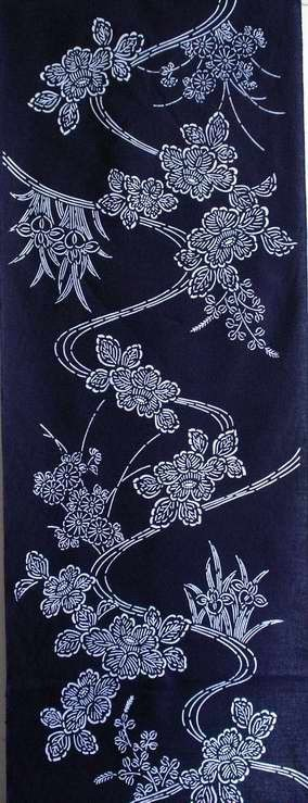Japanese yukata cotton fabric