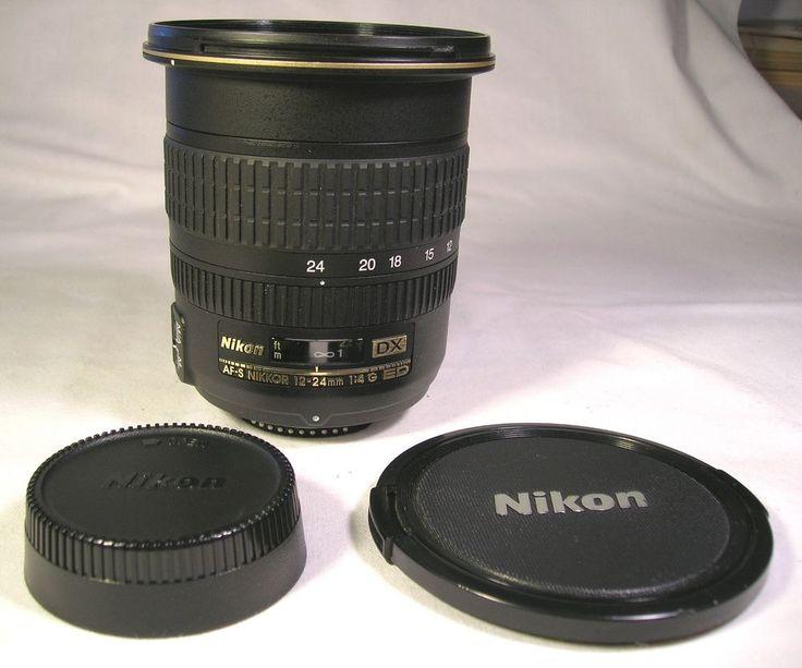 Nikon DX AF-S Nikkor 12-24mm f/4 1:4 G ED IF SWM Camera Lens W/Caps Japan NR #Nikon