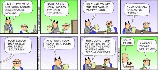 The Official Dilbert Website featuring Scott Adams Dilbert strips - work performance evaluation
