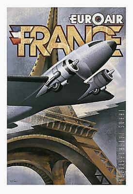 Vintage air travel poster