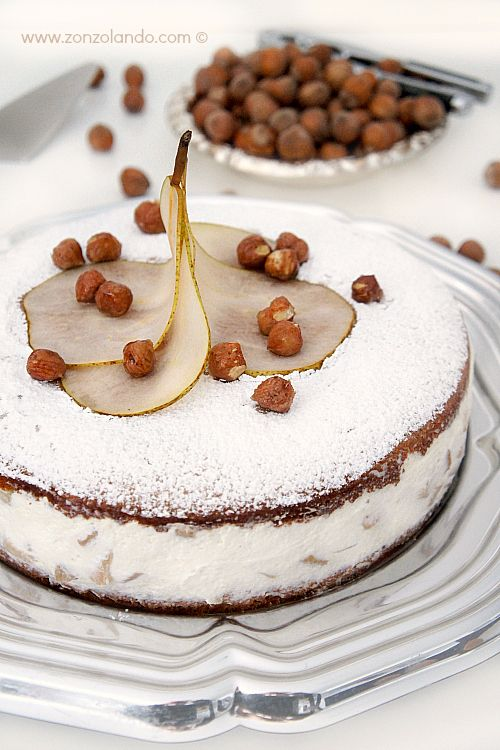 Torta di ricotta e pere - Ricotta and pear cake   From Zonzolando.com