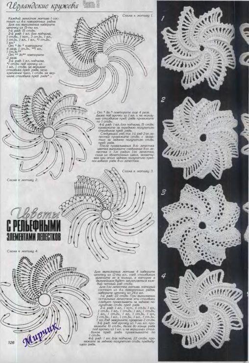 206 besten Irish crochet Bilder auf Pinterest   Irisch häkeln ...
