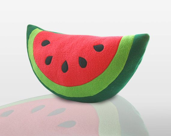 Wassermelone Kissen - süße Kissen by WinterPetals on Etsy