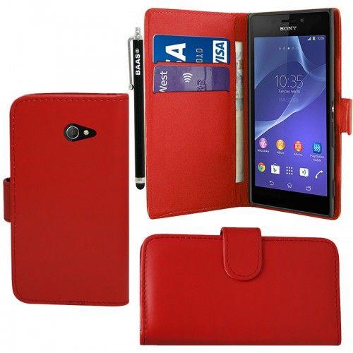 Θήκη Πορτοφόλι Wallet Case Κόκκινο (Sony Xperia M2 S50h) - myThiki.gr - Θήκες Κινητών-Αξεσουάρ για Smartphones και Tablets - Χρώμα κόκκινο