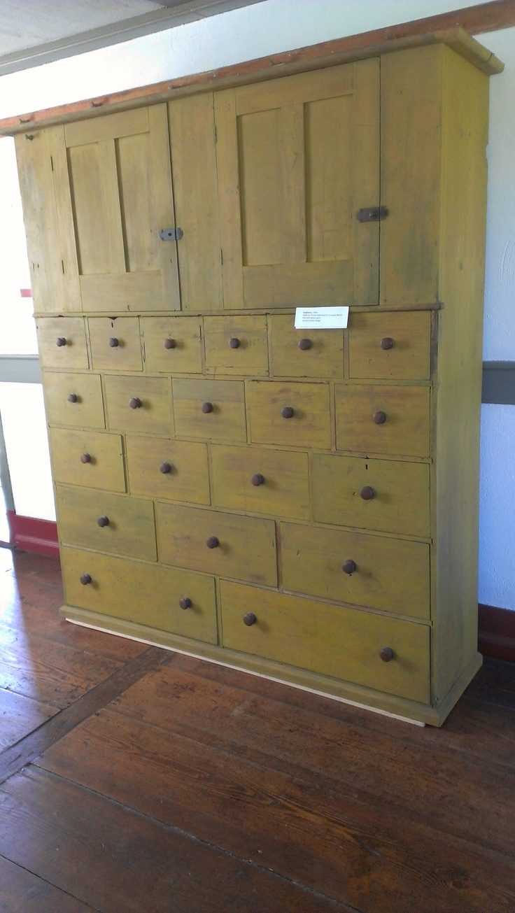 drawers upon drawers at harvard shaker house at the fruitland's museum