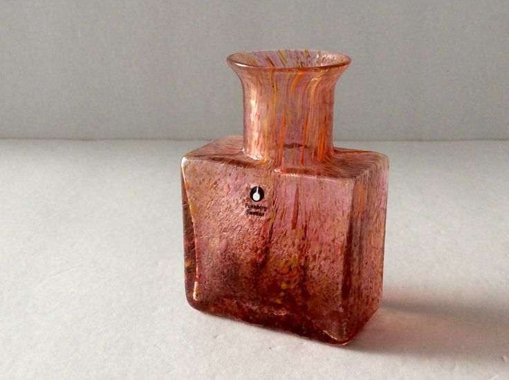 Pukeberg bottle shaped bud vase