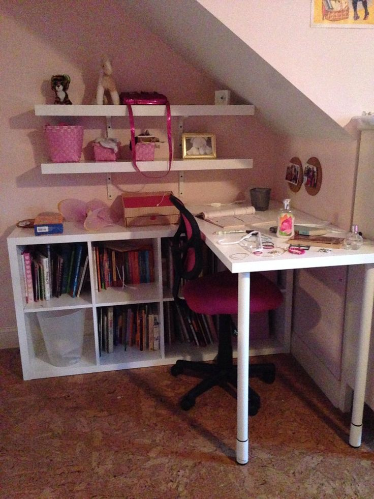 Desk made from ikea Kallax, linnmon top.  Like this configuration for under the window.  Gerton legs will allow for taller, standing height desk top surface.  Then put a second desk for a sitting height with the alex drawers on the right hand side..