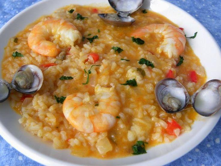 Arroz caldoso de rape y langostinos recetas saladas for Cocinar 6 tipos de arroz