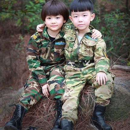58.99$  Watch now - http://ali7uq.worldwells.pw/go.php?t=32585816257 - 2015 Spring Autumn long sleeve camouflage Set small big children's clothing boy sportswear military jacket 5 pieces set D3954 58.99$