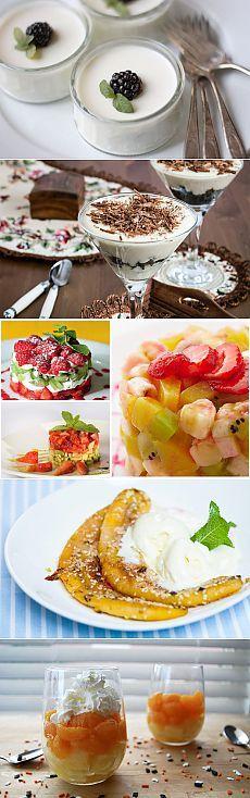 Вкусные и красивые десерты на скорую руку