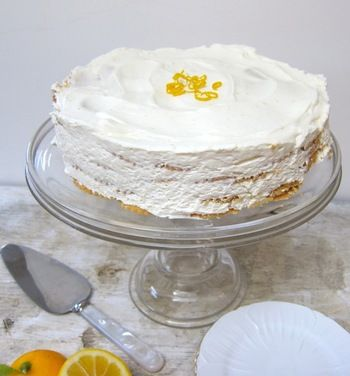 meyer lemon icebox cake: Desserts, Lemon Icebox Cake, Icebox Cake Recipes, Icebox Cakes, Sweet, Cake Lizthechef, Food, Meyer Lemon