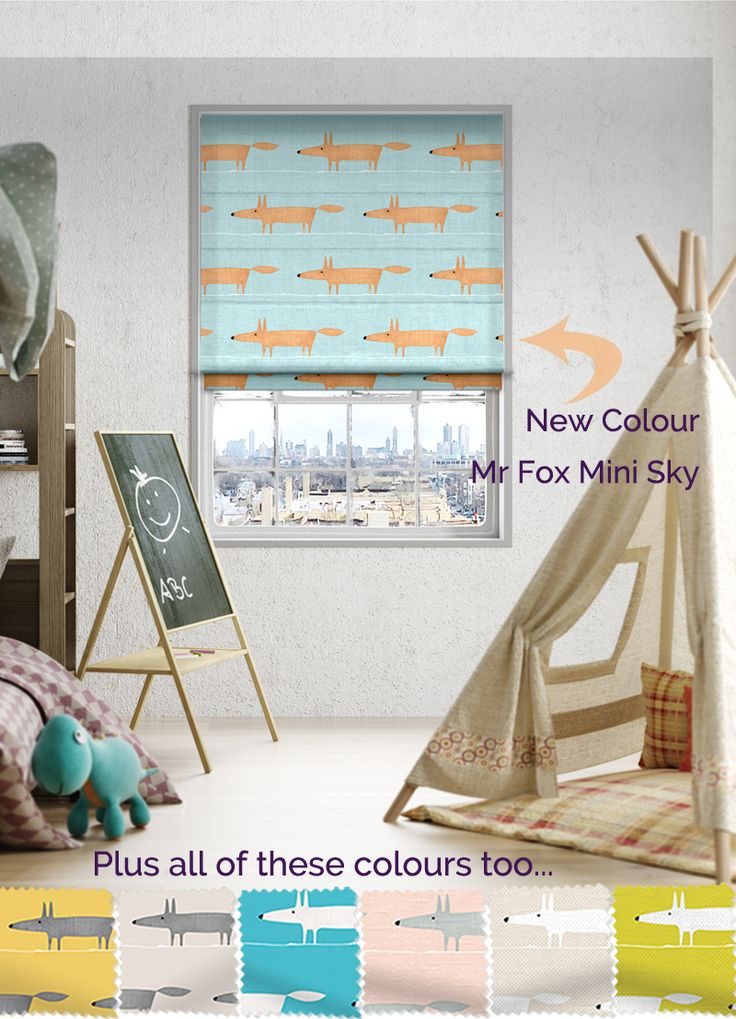 Everyone's favourite fox is now available in this gorgeous colourway! Grab him now at blinds-2go.co.uk