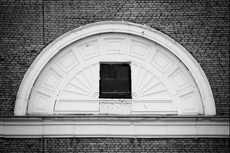 Abstract Black and White Arch Photography, Geometric Figures on Old Wall, Art Photo Print for Interior by cinema4design