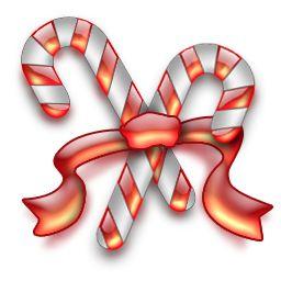 dit is een zuurstok die hoort bij kerst
