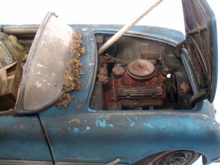 Franklin MINT Diecast 1955 Corvette Convertible Blue B11TC54
