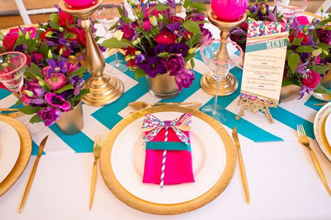 Colourful table setting #wedding & 47 best Events: colourful table settings images on Pinterest ...