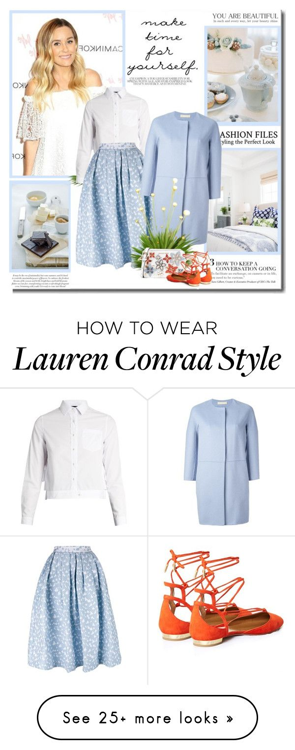 """""""Make time for yourself!!"""" by lilly-2711 on Polyvore featuring Lauren Conrad, Kolor, House of Holland, 'S MaxMara, MICHAEL Michael Kors and Aquazzura"""