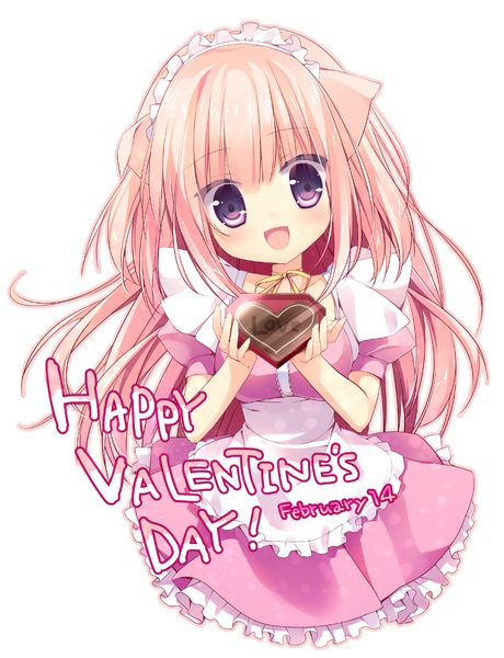 Happy valentine 39 s day cute moe anime arts pinterest - Happy valentines day anime ...